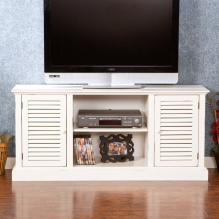 Antebellum Media Stand - Antique White