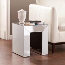 Schiaparelli Mirrored Accent Table - Silver