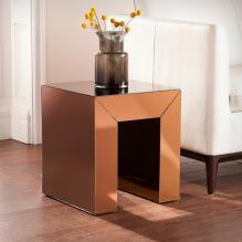 Schiaparelli Mirrored Accent Table - Bronze
