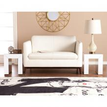 Schiaparelli Mirrored Accent Table 2Pc Set - Silver