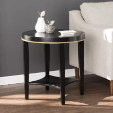 Lenderlynn Round Accent Table w/ Shelf