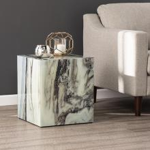 Polperton Faux Marble Accent Table