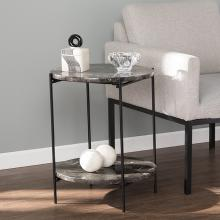Fostonly Round Marble Side Table