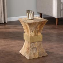Turvey Square Side Table w/ Brass Accents