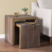 Haddonton Reclaimed Wood Nested Accent Tables - 2pc Set