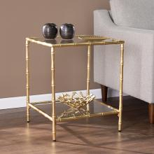 Oversley Glass-Top Accent Table
