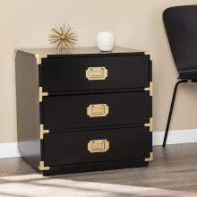 Campaign Black 3-Drawer Accent Chest
