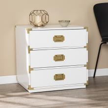 Campaign White 3-Drawer Accent Chest