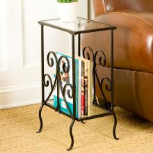 Decorative Metal Magazine Table