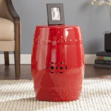 Sansa Ceramic Indoor/Outdoor Accent Table/Stool - Valiant Po