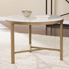 Garza Marble Accent Table - Midcentury Modern Style