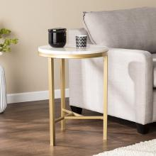 Garza Marble Side Table - Midcentury Modern Style