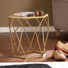 Joelle Geometric Accent Table - Gold