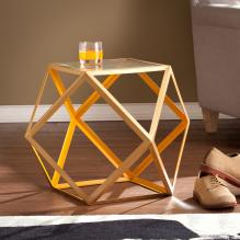Jenna Accent Table - Yellow & Champagne