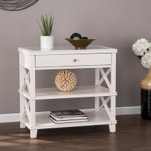 Wexbury Glass-Top Accent Table - White