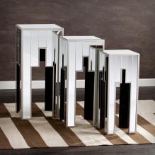Elena Mirrored Table 3pc Set