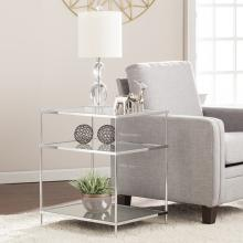 Knox Glam Mirrored Side Table - Chrome