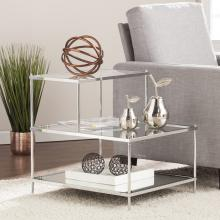 Knox Glam Mirrored Accent Table - Chrome