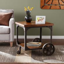 Owen Industrial Accent Table