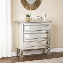 Rochelle 3-Drawer Mirrored Storage Chest - Glam Style
