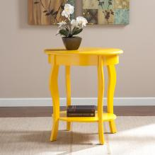Watts Oval Accent Table - Yellow