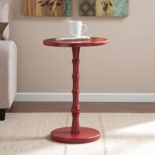 Rossum Round Accent Table - Red