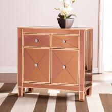 Mirage Colored Mirrored Cabinet - Bronze