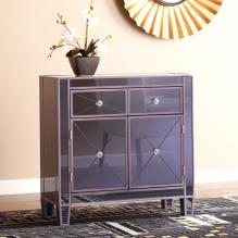 Mirage Colored Mirrored Cabinet - Purple