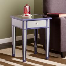Mirage Colored Mirror Accent Table - Purple