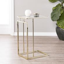 Holly & Martin Colbi Glass-Topped C-Table - Glam Style