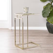 Holly & Martin Colbi Mirror-Topped C-Table - Glam Style