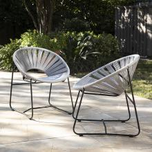 Rondly Outdoor Rope Chairs – 2pc Set
