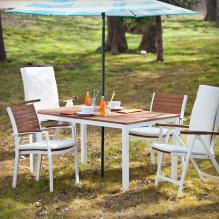 Mandalay Outdoor Rectangular Table - Soft White
