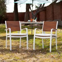 Mandalay Outdoor Easy Chairs 2Pc Set - Soft White