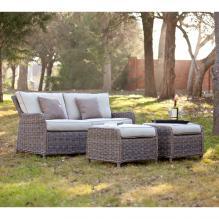 Avadi Outdoor 2.5 Seater Sofa & Ottoman 3Pc Set