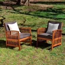 Catania Outdoor Armchairs - 2Pc Set