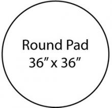 Fire Resistant Chiminea Pad (36 Inch Round Pad)