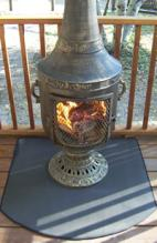 Fire Resistant Chiminea Pad (36 Inch Half Round Pad)