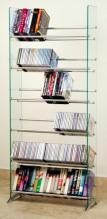 Clear Tempered Glass Multimedia Storage Rack