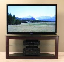 Flat Panel TV Stand With 2 Av Component Shelves