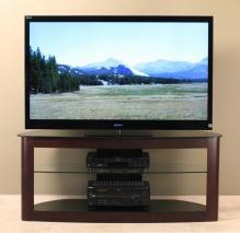 Flat Panel TV Stand With 2 Av Component Shelves