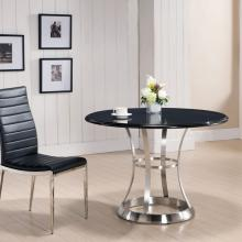 Stainless Steel & Black Marquina Marble Dining Table