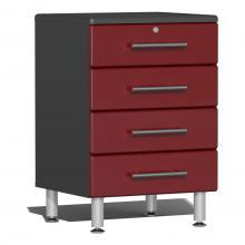 Ulti-MATE Garage 2.0 Series 4-Drawer Base Cabinet Ruby Red Metallic