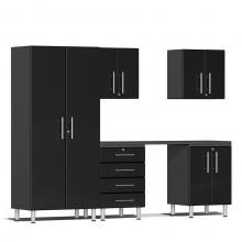Ulti-MATE Garage 2.0 Series 6-Piece Kit with Workstation Midnight Black