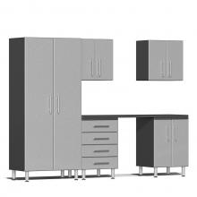 Ulti-MATE Garage 2.0 Series 6-Piece Kit with Workstation Stardust Silver Metallic