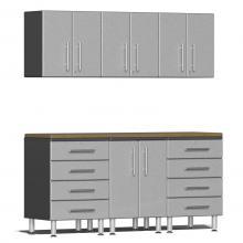 Ulti-MATE Garage 2.0 Series 7-Piece  Workstation Kit Stardust Silver Metallic
