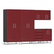 Ulti-MATE Garage 2.0 Series 6-Piece Kit Ruby Red Metallic