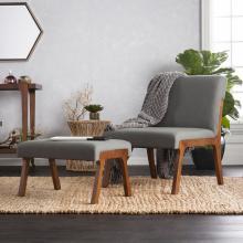Holly & Martin Plexus Chair and Ottoman