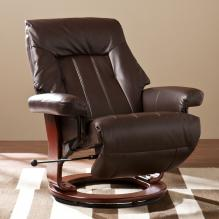 Norland Recliner w/ Hidden Ottoman - Kona Brown