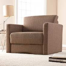 Tyndall Sleeper Chair w/ Storage - Nutmeg